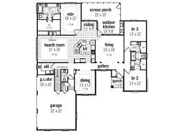 ranch house plans family friendly ranch house plan with outdoor