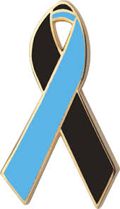 teal ribbons and blue awareness ribbons lapel pins