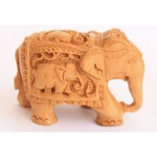 home decor u0026 handicrafts buy wood elephant with animal carvings