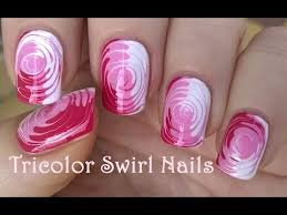 toothpick nail art 2 easy tricolor swirl nails tutorial