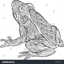 hand draw frog zentangle style stock vector 287496866 shutterstock