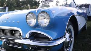 vintage corvette blue jewel blue corvette v 8 1961 in detail kaloe vintage car rally