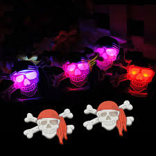resin skeleton pirate led light up brooch pins