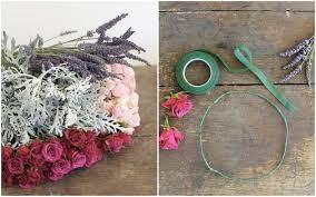 crowning floral spray roses and lavender diy floral crown tutorial