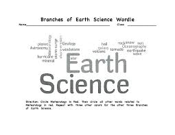 branches of science worksheet free worksheets library download