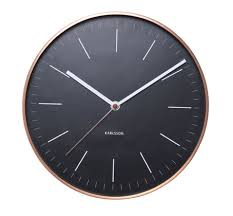 minimalist wall clock minimalist wall clock in black and copper