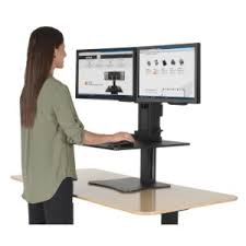 Platform For Standing Desk Amazon Com Victor Dc350 High Rise Collection Dual Monitor Sit