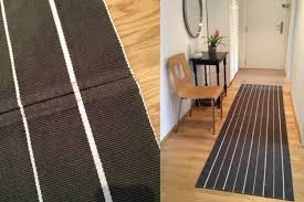 Diy Runner Rug Of Stripes A Hallway Runner Rug Diy Ikea Hackers