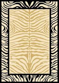 Black And Beige Area Rugs Arlington Collection Zebra Design Beige And Black 3 Pcs Area Rug