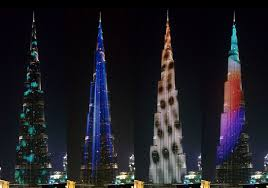 the burj khalifa s facade gets mesmerizing led light show curbed