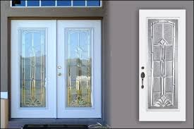 metal front doors with glass marquise beveled traditional glass door