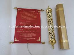 scroll wedding invitations royal scroll wedding invitations with engraved gold boxes for