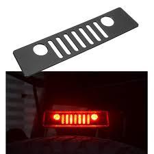 jeep wrangler brake light cover lowest price black 3rd rear brake light cover matte black grille for