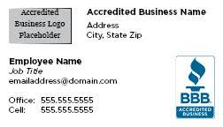 Business Card Design Fee Business Card Version 2 Front Accredited Business Png