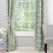 Green And Blue Curtains Marrakech Blue And Green Curtain Panel Set 84 In Kirklands