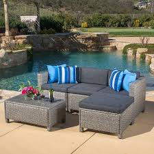 Best Wicker Patio Furniture - amazon com venice outdoor patio furniture wicker sectional sofa