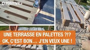 Table De Jardin En Palette De Bois by Une Terrasse En Palettes J U0027en Veux Une Youtube
