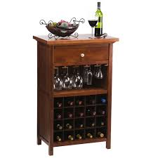 winsome vicenza 20 bottle wine table with glass storage hayneedle