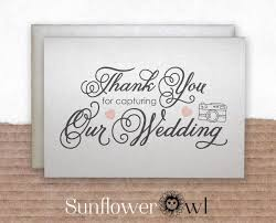 thank you for capturing our wedding thank you card for wedding