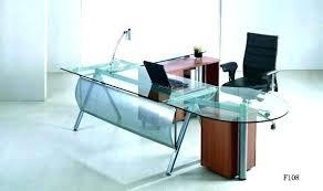 Office Desk Glass Top Glass Table Desk Bethebridge Co