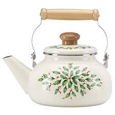 Lenox Home Decor Amazon Com Lenox Holiday Enamel Tea Kettle Kitchen U0026 Dining