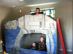 Awesome Dad Builds An ATAT Walker Bunk Bed For His Son  Man Made - Star wars bunk bed