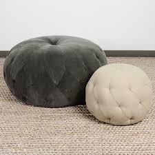 cisco brothers upholstered tufted pouf ottoman