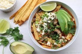 recette cuisine mexicaine soupe de chignons et tortillas mexicaines recettes de laylita