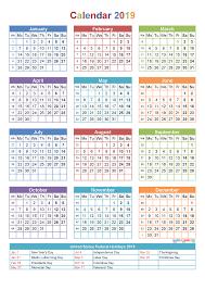printable yearly calendar 2019 with holidays template calendar