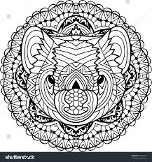coloring page adults australian animal head stock vector 588409673
