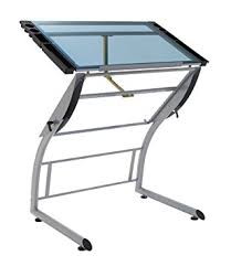 Glass Drafting Table With Light Amazon Com Studio Designs 10089 Triflex Drawing Table Sit To