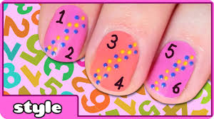 numbers nail art counting 1 10 nails design for kids youtube