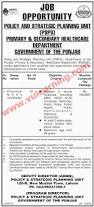 primary u0026 secondary healthcare department punjab jobs 2017 policy