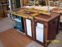 table saw reviews fine woodworking table saw extension cabinet finewoodworking