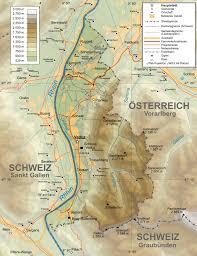 Europe Map Physical by Maps Of Liechtenstein Detailed Map Of Liechtenstein In English