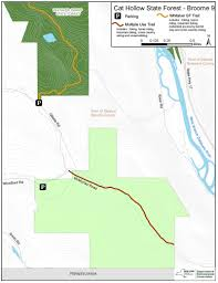 Road Map Of Ny State by Cat Hollow State Forest Map Nys Dept Of Environmental Conservation