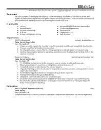 data entry resume data entry resume exles free to try today myperfectresume