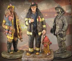firefighter figurines sculpture by michael garman capturing the american spirit