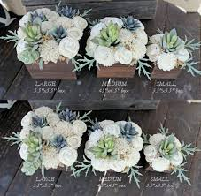 Small Flower Arrangements Centerpieces Small Artificial Succulent Arrangement Centerpiece Midcentury