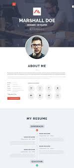 personal resume template 50 best html resume cv vcard templates 2017 freshdesignweb