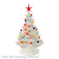 all white ceramic christmas tree 11 1 2 inch tall ceramic tabletop