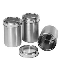 dynore stainless steel kitchen storage canisters dabba with see