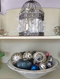 apothecary jars filled with ornaments and baubles my actual home