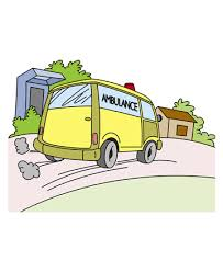 ambulance service coloring pages kids color print