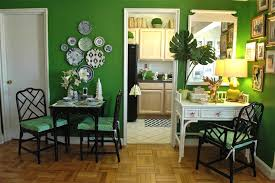 Green Dining Rooms Green And Black Dining Room Eclectic Dining Room Mythic