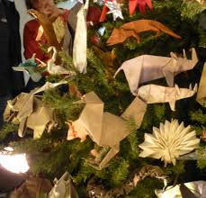 origami christmas tree at the american museum of natural history