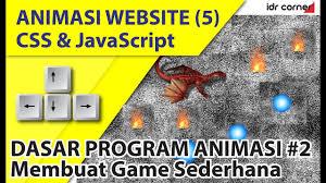membuat web sederhana dengan javascript animasi website css dan javascript 5 membuat game sederhana 2