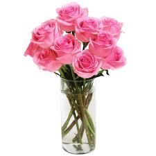 Long Stem Rose Vase Bouquet Of Long Stemmed Roses Dozen With Vase Fleur De Lis