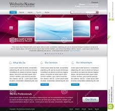 Design Site by Purple Website Design Template Royalty Free Stock Photography