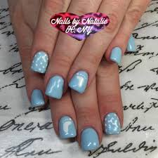 gel nail designs baby shower themed using gelish cnd brisa